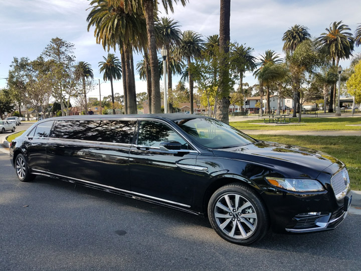 2017 black 140 inch lincoln continental limo for sale 1041. Black Bedroom Furniture Sets. Home Design Ideas