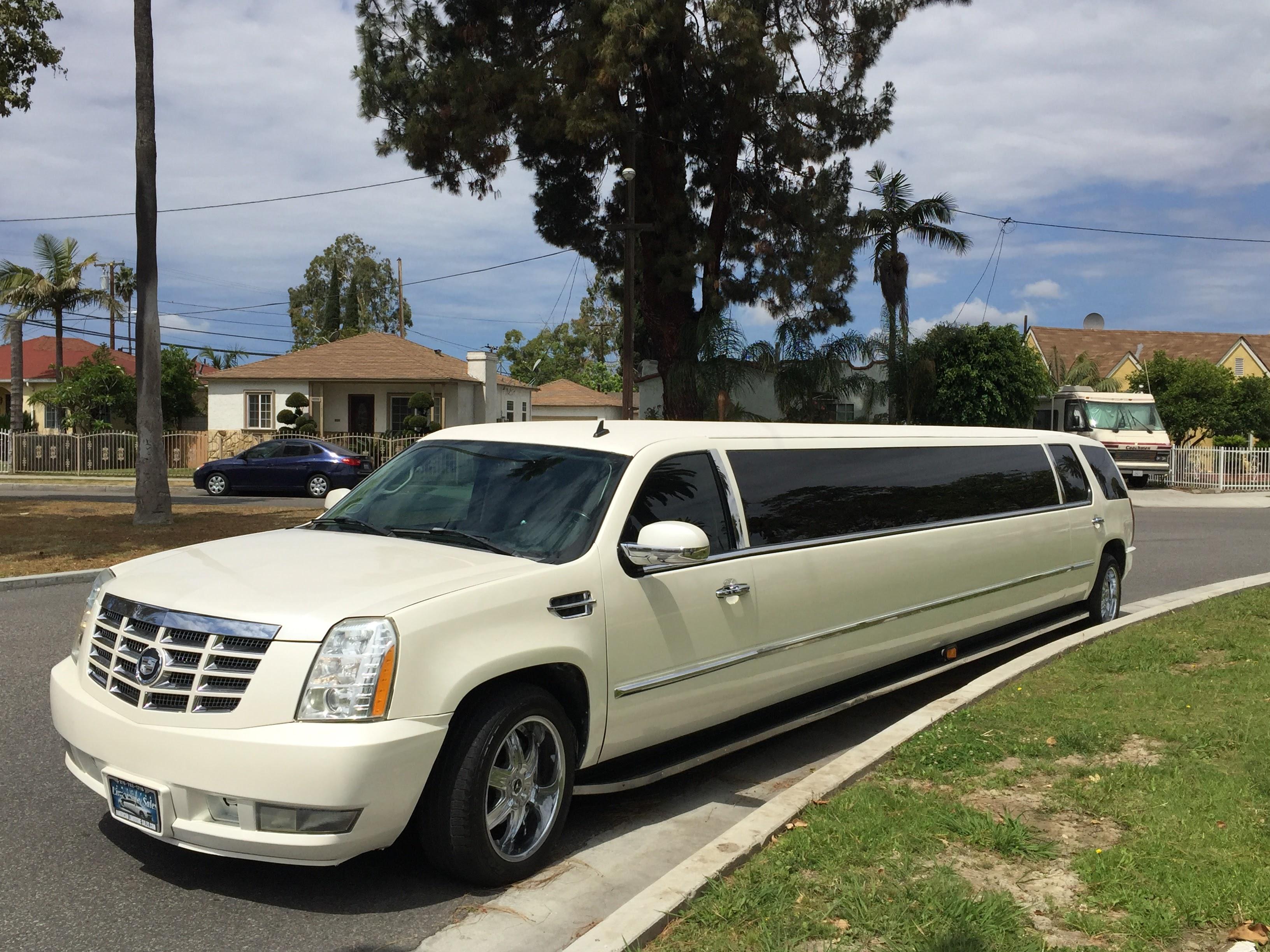 2007 Diamond White 20 Passenger Cadillac Limo For Sale